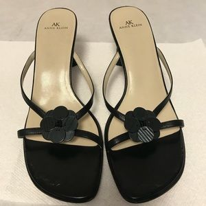 Anne Klein Black Sandals Sz 10M